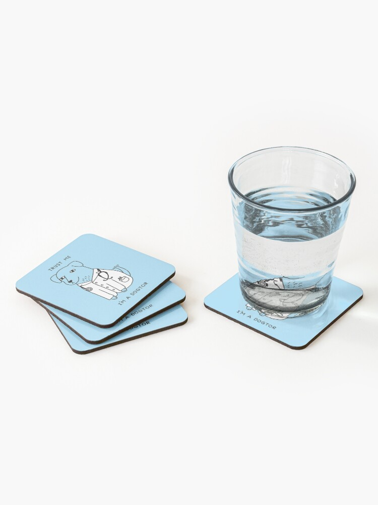 Alternate view of Dogtor Coasters (Set of 4)