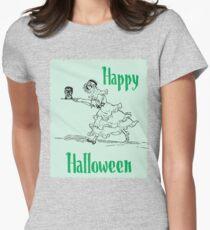 Halloween Kopf Tailliertes T-Shirt für Frauen