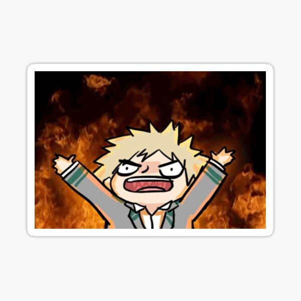 Katsuki Bakugo en colère Sticker