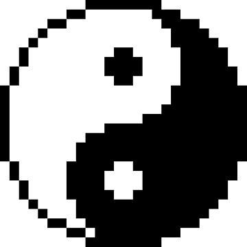 Yin and Yang Pixel Art by Crampsy