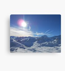 Beautiful Sky Over Mountain Canvas Print
