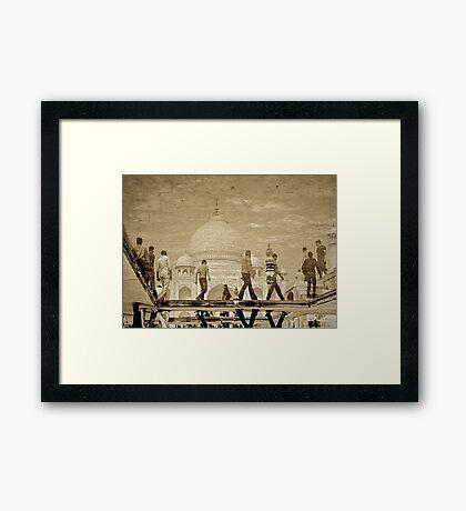 Boys of Taj Framed Print
