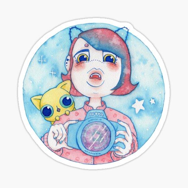 Umie & Mochi 3 - Fashion Harajuku - Japanese girl and her cat - kawaii Sticker