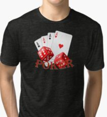 """""""POKER"""" with dice and ace cards Tri-blend T-Shirt"""
