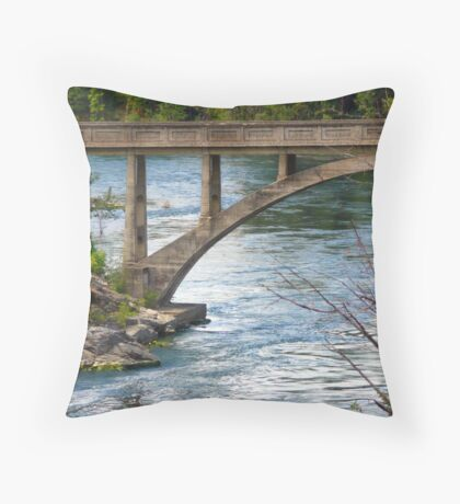 Post Falls Bridge Throw Pillow