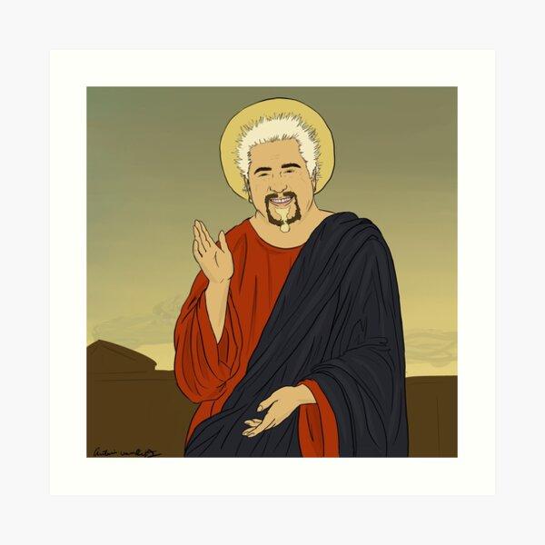 Guy Fieri Jesus Art Print
