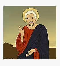 Guy Fieri Jesus Photographic Print