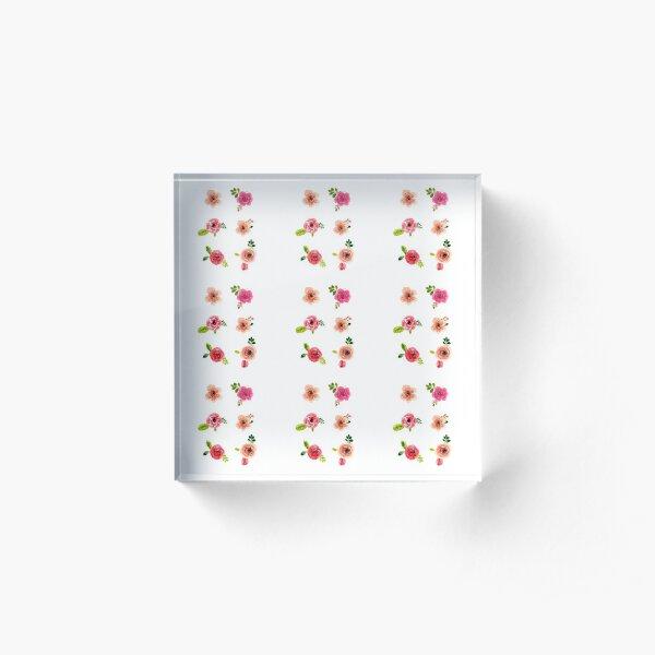 Little Flowers Acrylic Block
