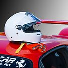 Ferrari Helmet & Gloves by Jack DiMaio