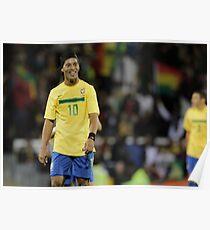 Ronaldinho Football Poster