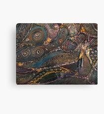 Organic Metalic Canvas Print
