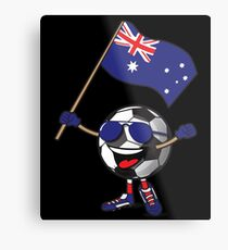 Australia Football Team Soccer Ball With National Flag Fan Shirt Metal Print