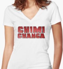 CHIMICHANGA! Women's Fitted V-Neck T-Shirt