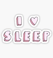 I Love Sleep Sticker Sticker