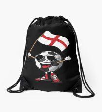 England Football Team Soccer Ball With National Flag Fan Shirt Drawstring Bag