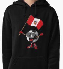 Peru Football Team Soccer Ball With National Flag Fan Shirt Pullover Hoodie