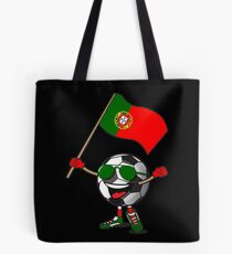 Portugal Football Team Soccer Ball With National Flag Fan Shirt Tote Bag