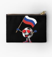 Russia Football Team Soccer Ball With National Flag Fan Shirt Studio Pouch