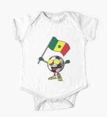 Senegal Football Team Soccer Ball With National Flag Fan Shirt One Piece - Short Sleeve