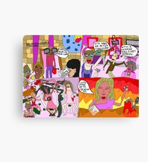 drag race drawing canvas prints redbubble