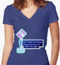 Don't hate the Player Women's Fitted V-Neck T-Shirt
