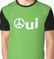 Oui Quebec Referendum 1995 green lime poster sticker with peace symbol Qc PQ french Yes Québec Graphic T-Shirt