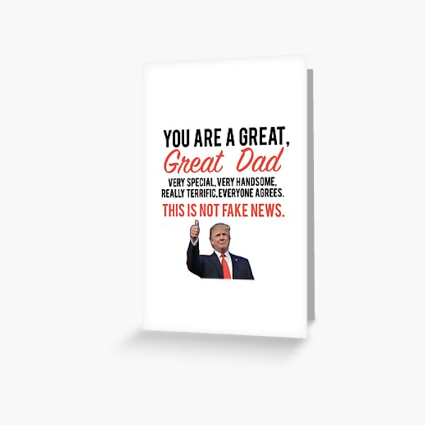 Fathers day donald trump Greeting Card