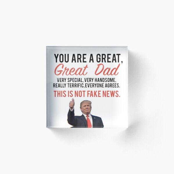 Fathers day donald trump Acrylic Block