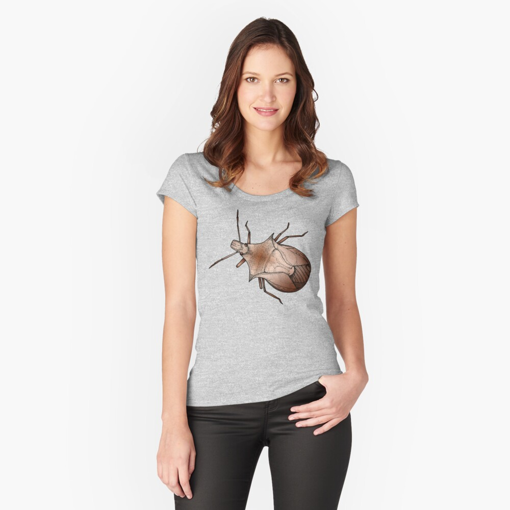 Stink Bug, in color Women's Fitted Scoop T-Shirt Front