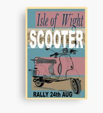 Isle of Writer Scooter Rally Canvas Print