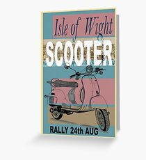 Isle of Writer Scooter Rally Greeting Card