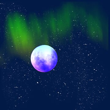Blue Moon and Northern Lights by Greenbaby