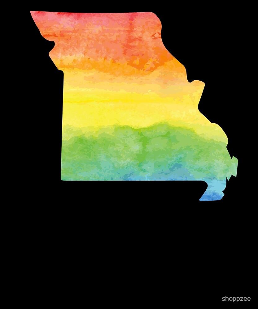 Watercolor T Shirt Missouri Home Tee Shirts by shoppzee