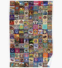 Grateful Dead Album Covers Poster