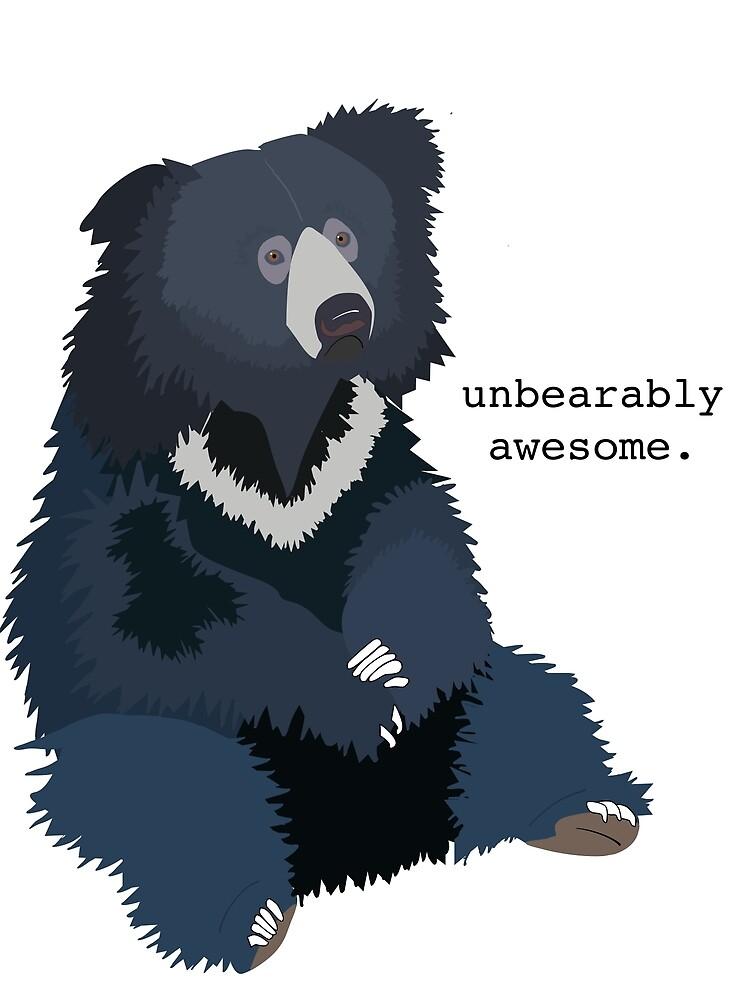 "Sloth Bear ""Unbearably Awesome"" by bokloepfer1"