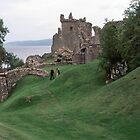 Urquhart Castle grounds Urquhart Bay Loch Ness Scotland 19840910 0004  by Fred Mitchell