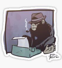 Chimp Can Key Sticker