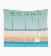 Summer by the pool Wall Tapestry