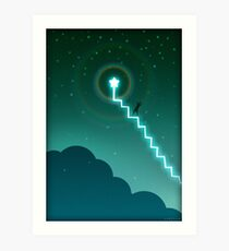 A Stairway To The Stars Art Print