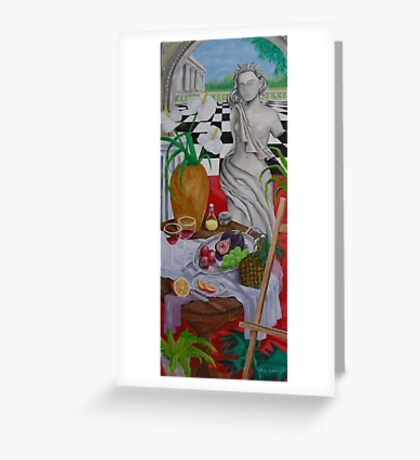 Still Life and Arch Window 1 Greeting Card