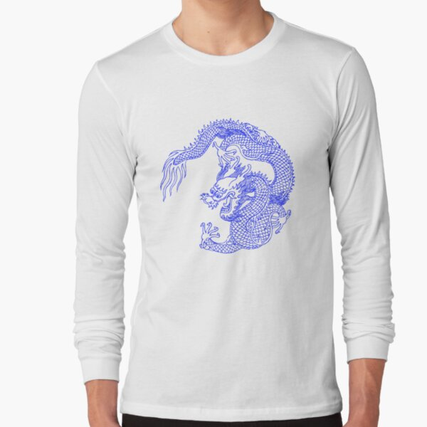 Asian Art Chinese Dragon Tattoo Style Long Sleeve T-Shirt