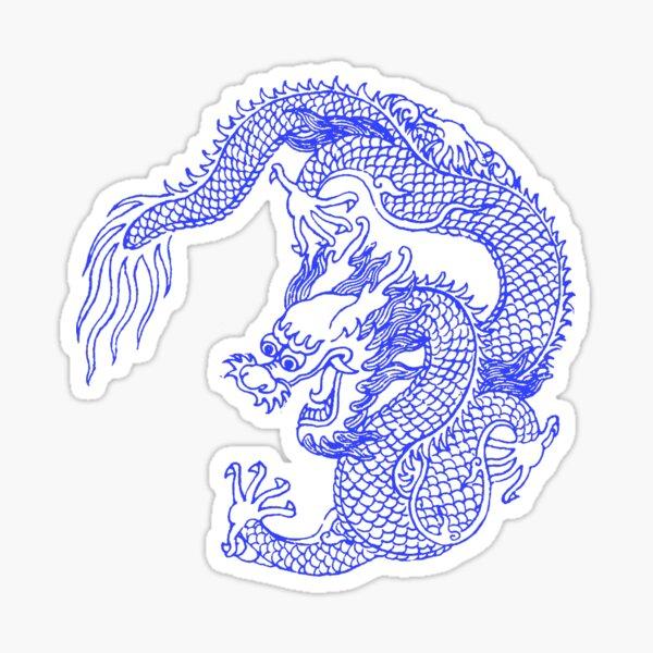 Asian Art Chinese Dragon Tattoo Style Sticker