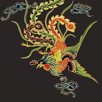 Asian Art Chinese Phoenix by Zehda