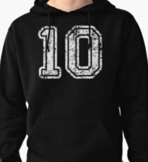 Sport Team Jersey 10 T Shirt Football Soccer Baseball Hockey Basketball Ten 10 010 Number Pullover Hoodie