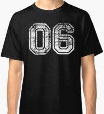 Sport Team Jersey 06 T Shirt Football Soccer Baseball Hockey Basketball Six 6 06 Number Classic T-Shirt