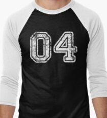 Sport Team Jersey 04 T Shirt Football Soccer Baseball Hockey Basketball Four 4 04 Number Men's Baseball ¾ T-Shirt
