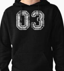Sport Team Jersey 03 T Shirt Football Soccer Baseball Hockey Basketball three 3 03 Number Pullover Hoodie