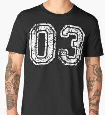 Sport Team Jersey 03 T Shirt Football Soccer Baseball Hockey Basketball three 3 03 Number Men's Premium T-Shirt