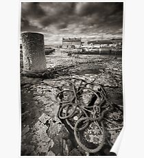 Reay Harbour, Caithness, Scotland Poster