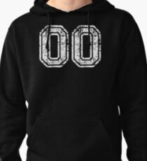 Sport Team Jersey 00 T Shirt Football Soccer Baseball Hockey Double Basketball Double Zero oo OO Number Pullover Hoodie